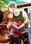 Lawrence x Holo - Spice and Wolf fanbook by Ninamo-chan