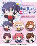 Chuunibyou Demo Koi ga Shitai! - button set by Ninamo-chan