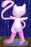 Request Mew in a rainy day by mew2psycat