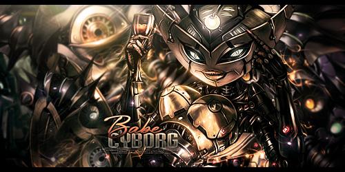 Cyborg Babe by MARKCAPE