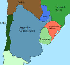 Southern South America in 1840s