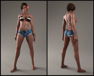 Lisa CG render 01 by MrsDragonX