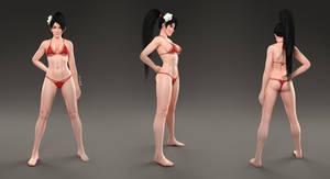 Momiji CG render 01