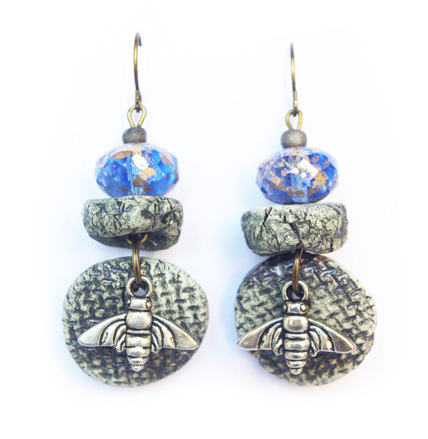 Abeille Boucles d'oreilles - Bee earrings by coco-flower