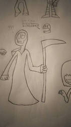 a mexican grim reaper by megatanklord