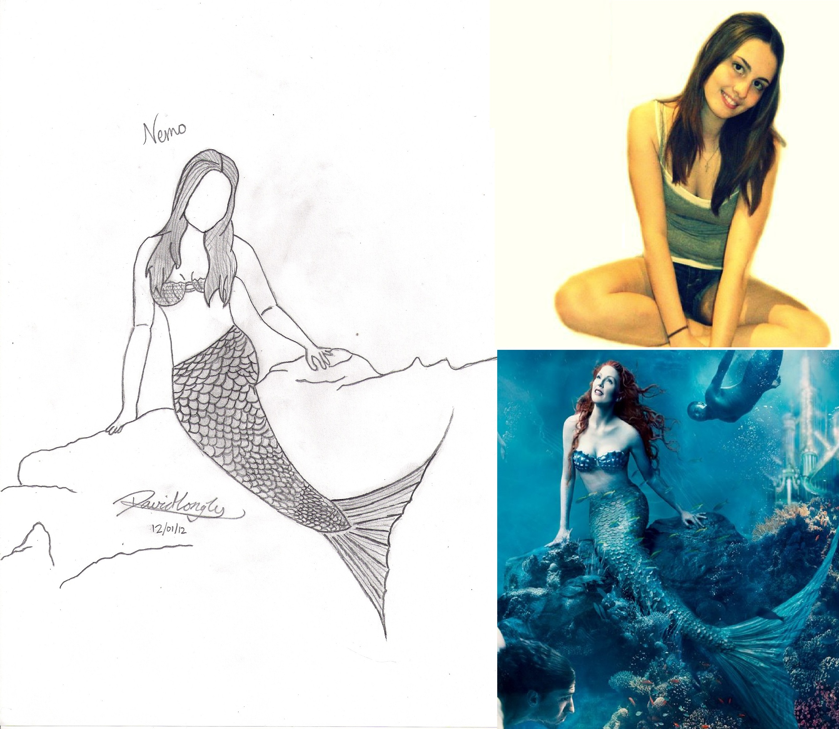 practice drawing 3 mermaid drawing request by lythanhlong on