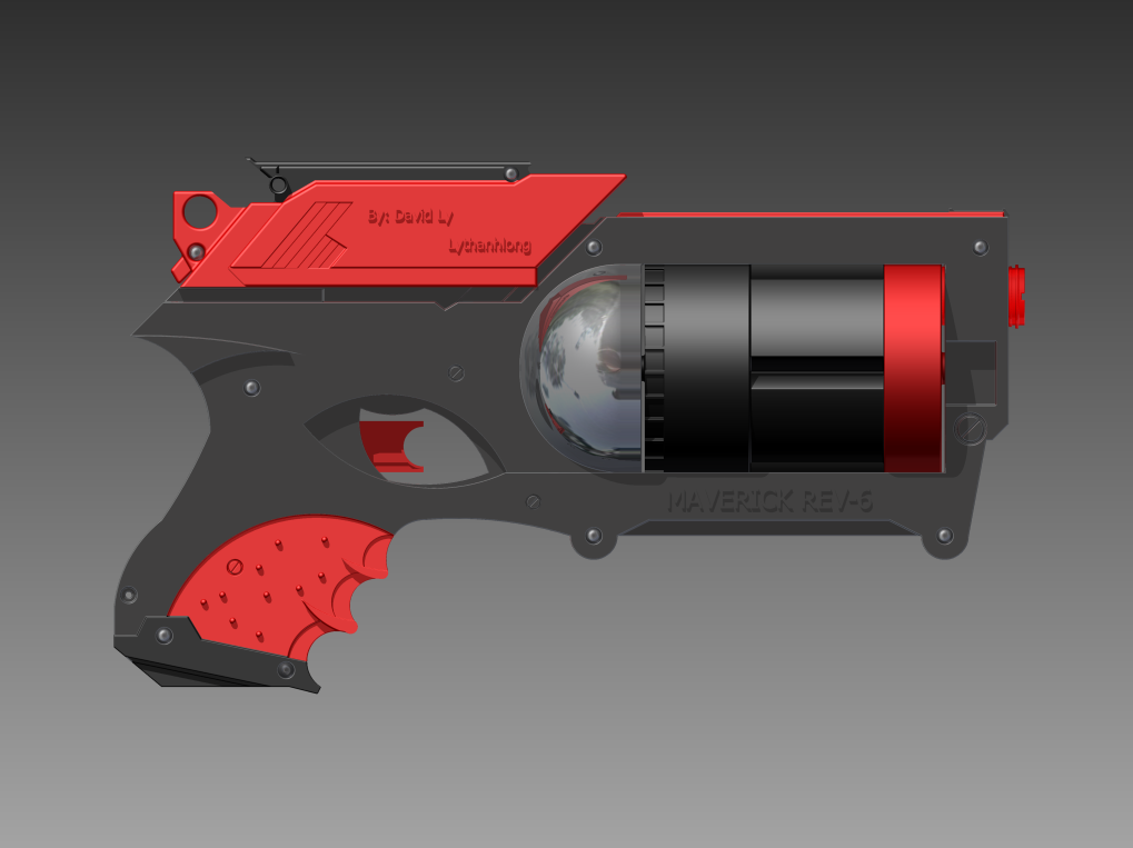 Nerf Gun: Maverick Rev-6 FINAL View 1 by Lythanhlong ...