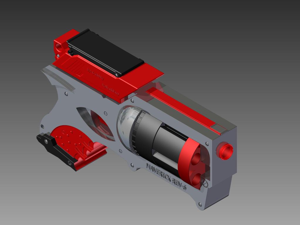 Nerf Gun: Maverick Rev-6 FINAL View 2 by Lythanhlong ...
