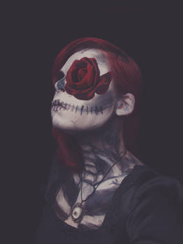 Day of the Dead Rose Girl