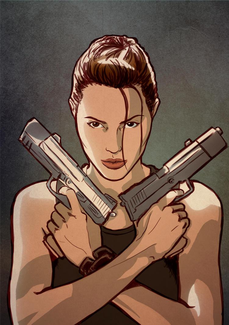 Lara Croft by Fernandolopezleonart