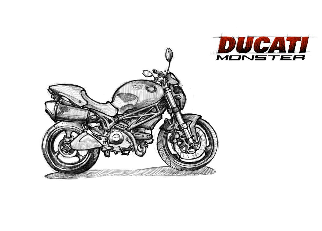 Ducati Monster By Blacksheep174 On Deviantart