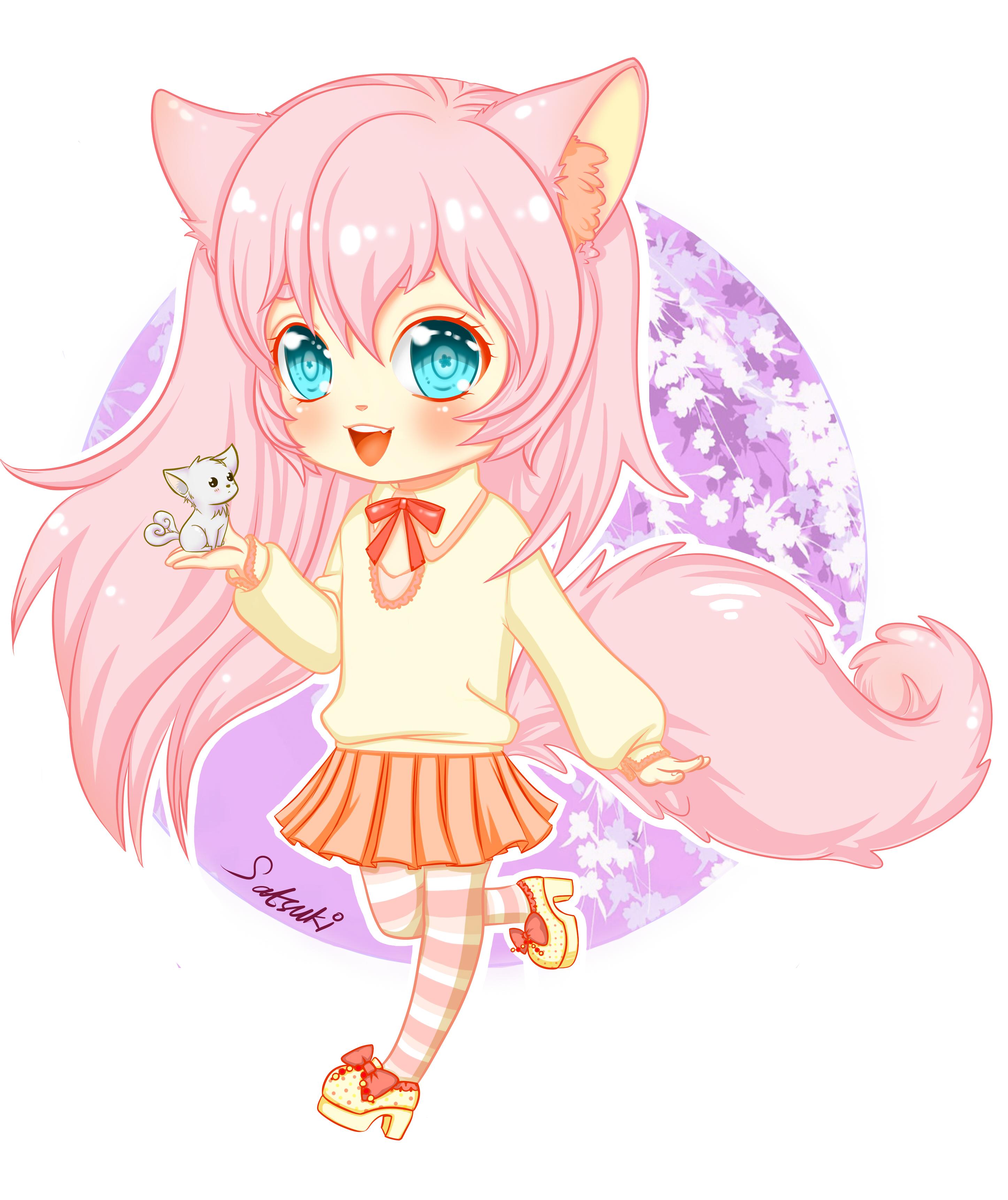 Chibi Fox Girl by satsuki10 on DeviantArt
