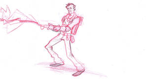 ghostbuster venkman sketch by frankenart