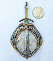 Sword and Shield Amulet Combo [wire wrap] by herolink86
