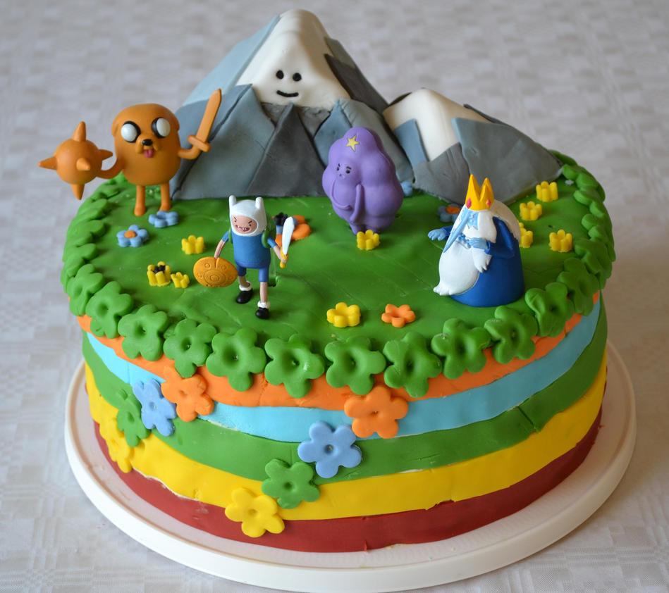 adventure time birthday cake by hartifax on deviantart
