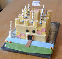 Battenberg Castle Cake by hartifax