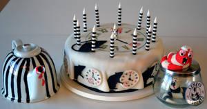 Emilie Autumn Plague Rat birthdays cake with leech by hartifax