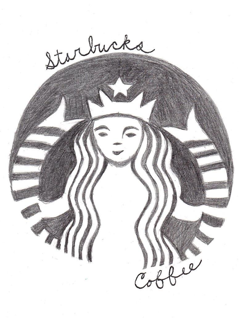 Starbucks Coffee Logo Drawing By WeirdAsianKittyGirl On DeviantArt