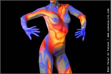 Neon body art by Cyndii007