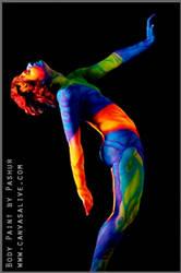 Neon body art II by Cyndii007