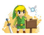 Toon Link and the Blank Sign.