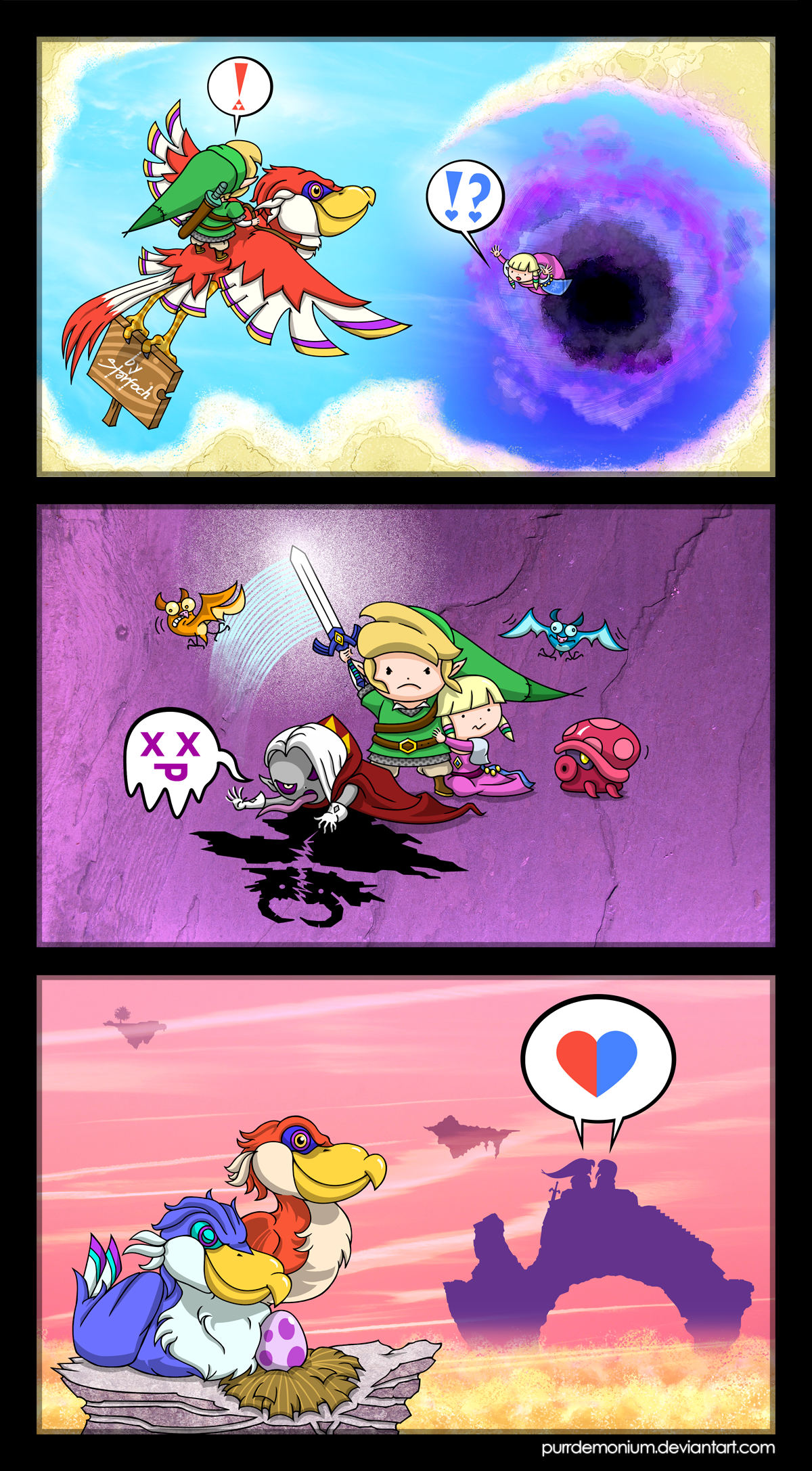 Zelda Skyward Sword Short Comic By Purrdemonium