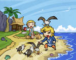 COLLAB with Zellie669- Wind Waker: Outset Siblings