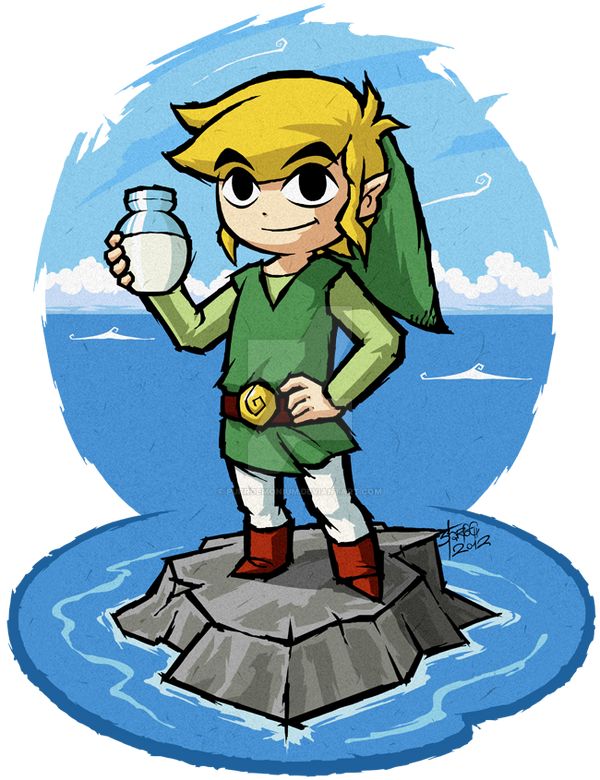 The Wind Waker: The Bottle of... Milk? by Purrdemonium