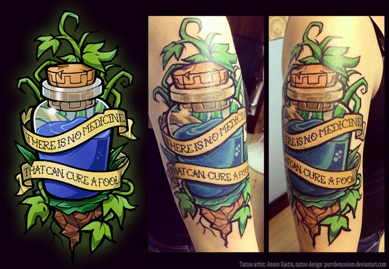 The Truth (Legend of Zelda tattoo) by Purrdemonium