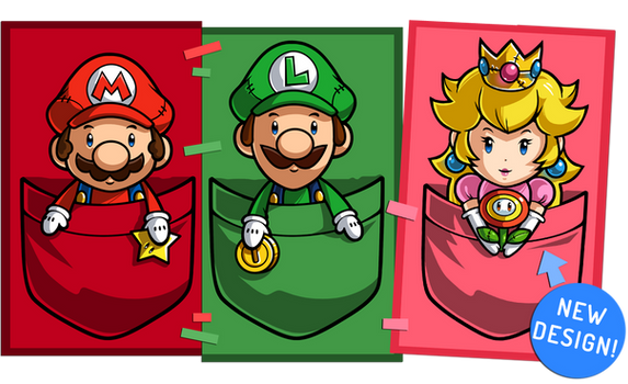 Super Mario Pocket Plushies (read description)