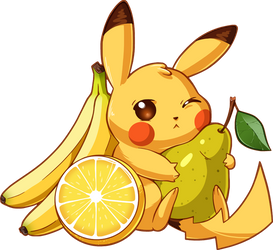 Pikachu and Fruits