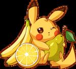Pikachu and Fruits