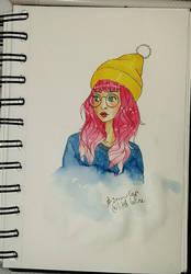 Yellow snow cap