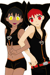 Bane and Kauri when they were kids