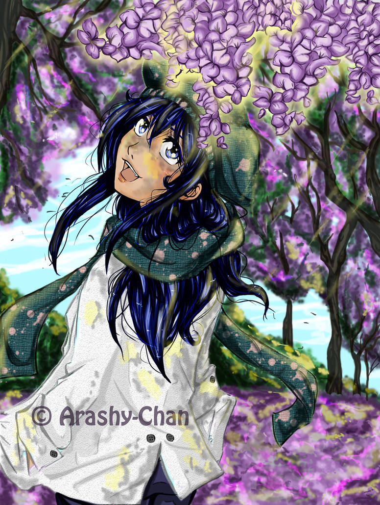 Lilith with wisteria