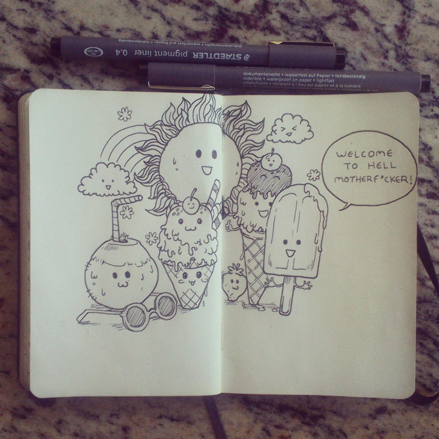 #3 How I feel about summer... by 365-DaysOfDoodles