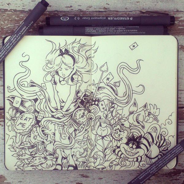 #26 Alice in DoodleLand by 365-DaysOfDoodles