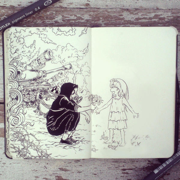 #43 War and Peace by 365-DaysOfDoodles