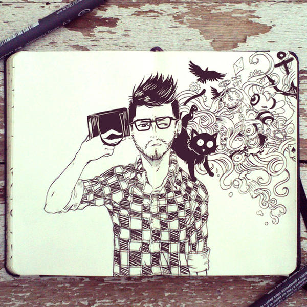 #54 Selfie by 365-DaysOfDoodles