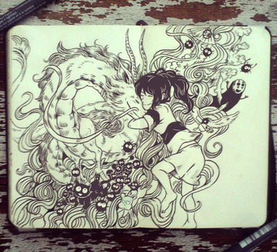 #63 Spirited Away by 365-DaysOfDoodles