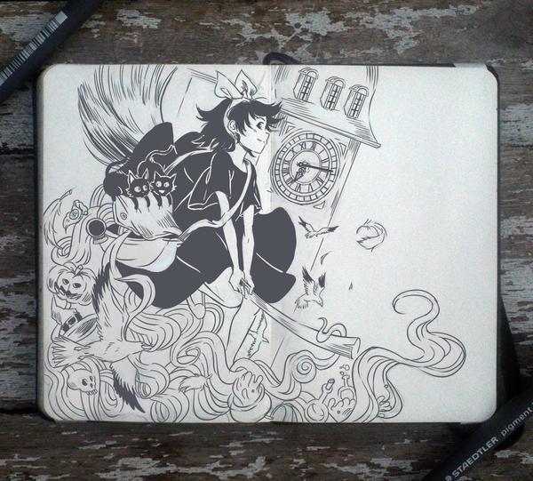 69 kiki 39 s delivery service by picolo kun on deviantart for Kiki tattoo artist