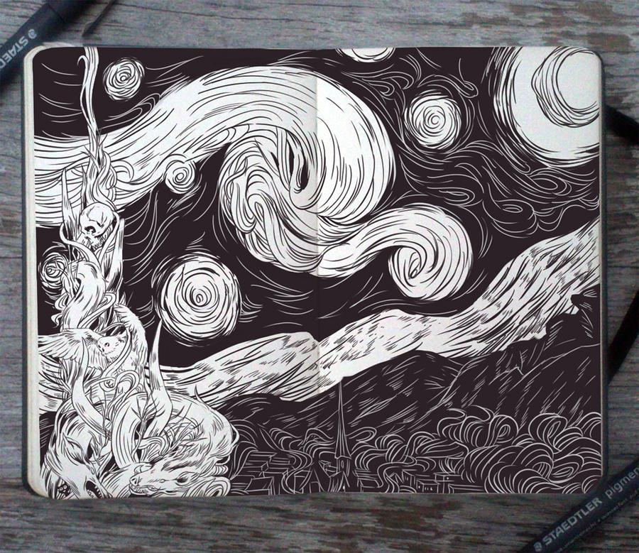 #84 Starry Night by Picolo-kun
