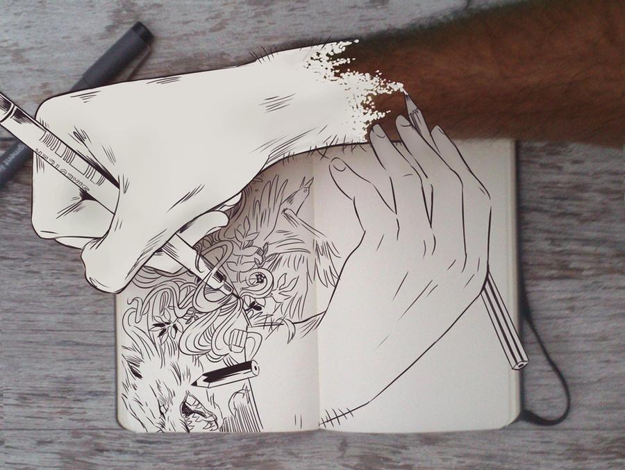 #90 Doodle vs Camera by Picolo-kun