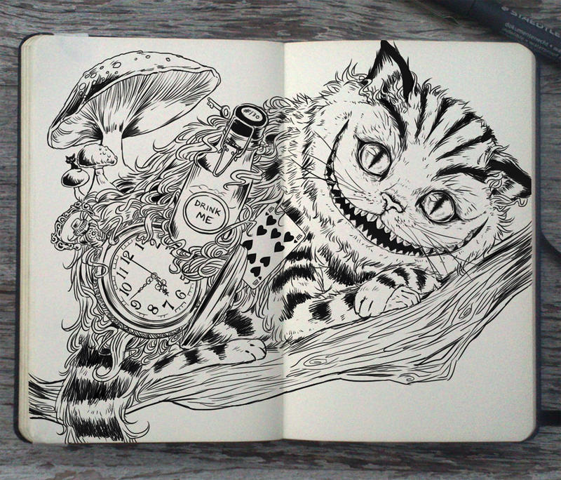 #130 Cheshire Cat by 365-DaysOfDoodles