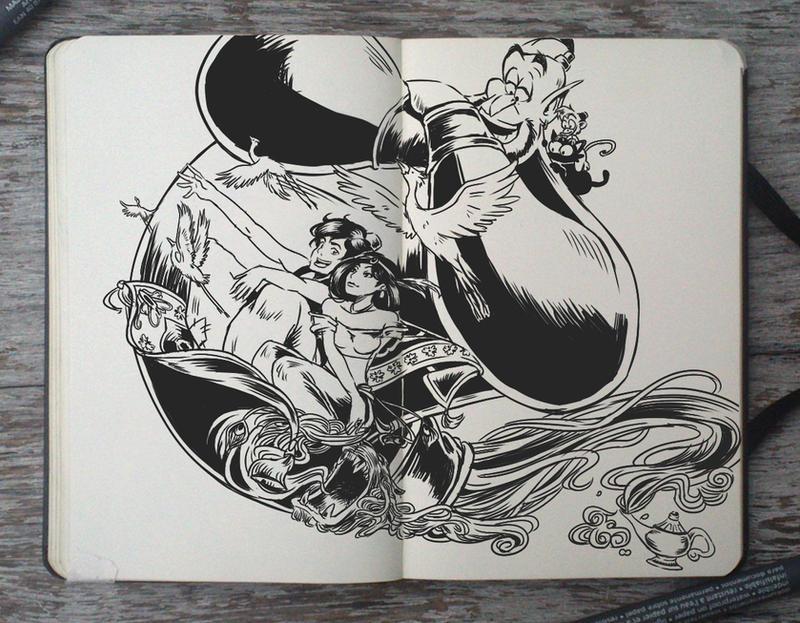 #148 Aladdin and the magic lamp by Picolo-kun