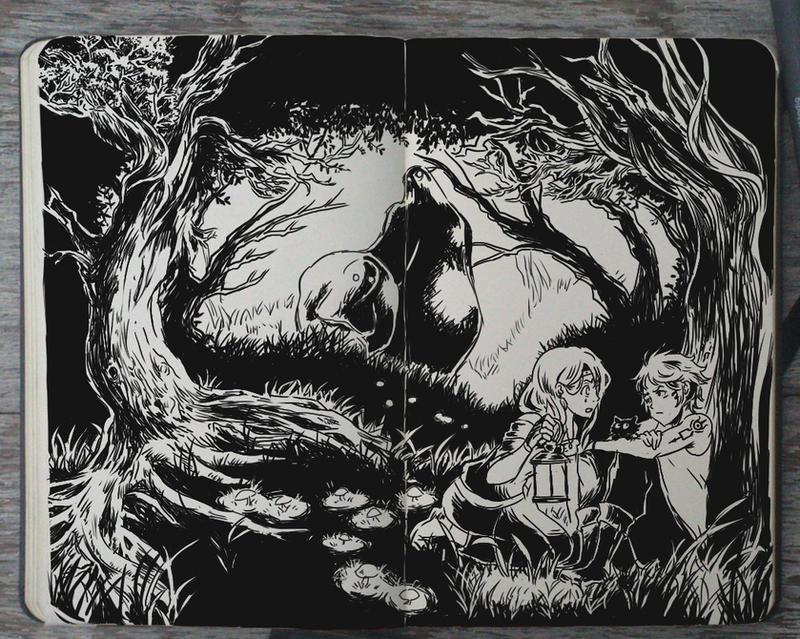 #156 Afraid of the Dark by Picolo-kun