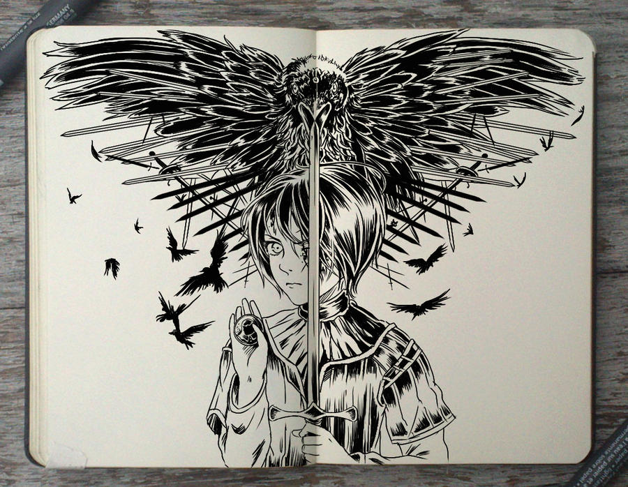 #166 A Feast for Crows by 365-DaysOfDoodles
