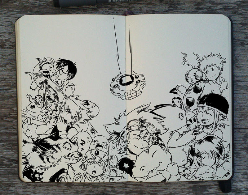 #218 Digimon Adventure by 365-DaysOfDoodles
