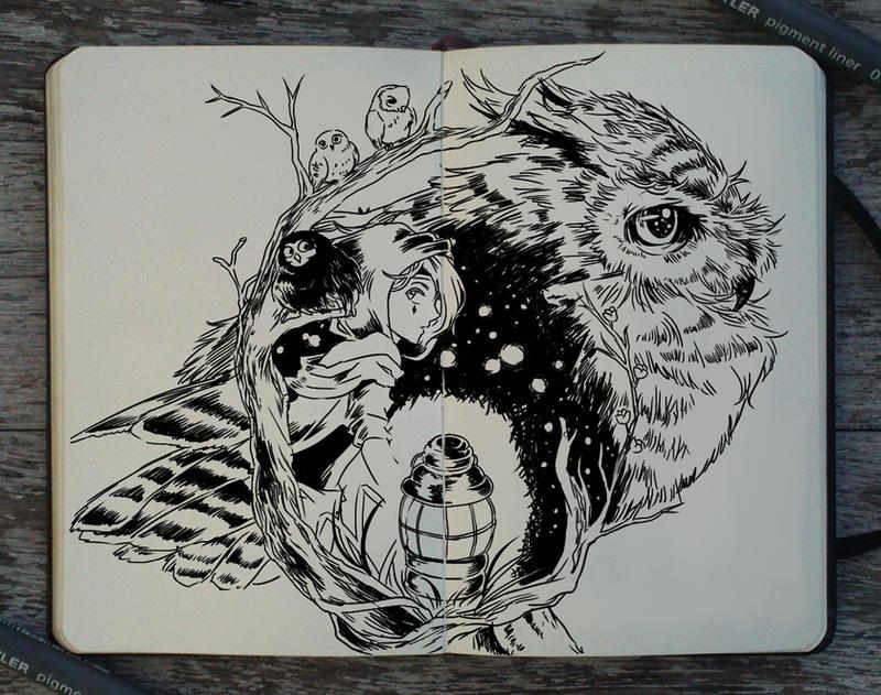 #219 Night bird by Picolo-kun
