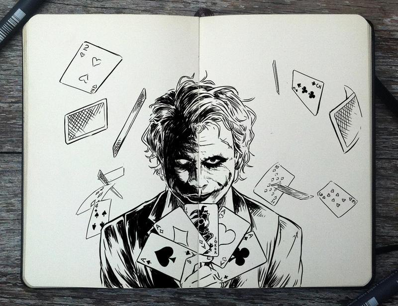 #258 Joker by 365-DaysOfDoodles